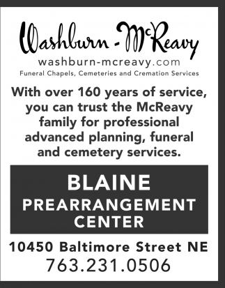 Blaine Prearrangement Center