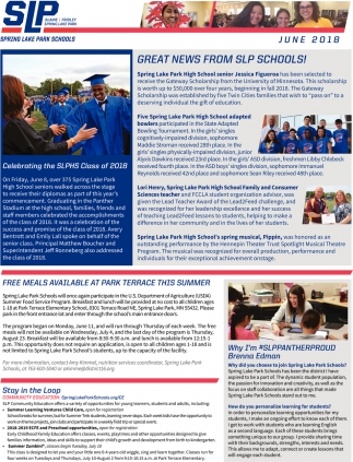 Great Newsfrom SLP Schools!