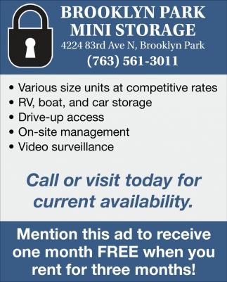 Brooklyn Park Mini Storage
