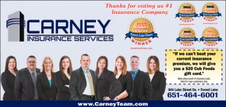Thanks for Voting us #1 Insurance Compay