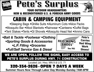 Cabin & Camping Equipment