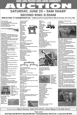 Huge Long Prairie Area Amish Community Auction