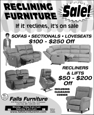 Reclining Furniture Sale!