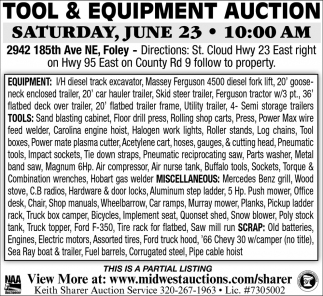 Tool & Equipment Auction