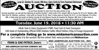 Auction Tuesday, June 19, 2018