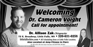 Welcoming Dr. Cameron Voight