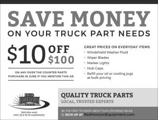 Save Money on Your Truck Part Needs