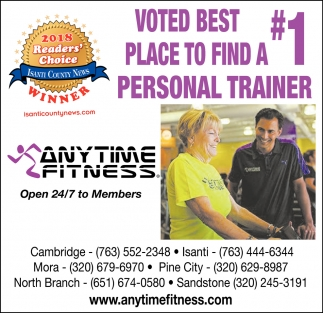 Voted Best Place to Find a #1 Personal Trainer