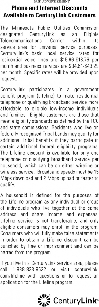 Phone and Internet Discounts Available to CenturyLink Customers