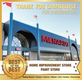 Thank You Cambridge for Choosing us!