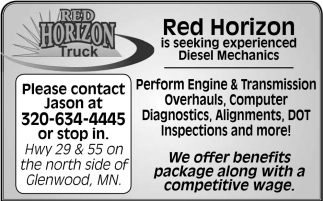 Red Horizo is Seeking Experienced Diesel Mehanics