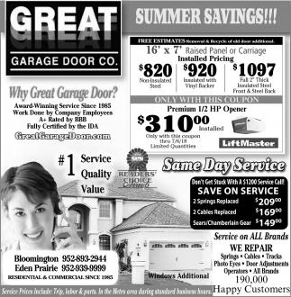 Summer Savings!