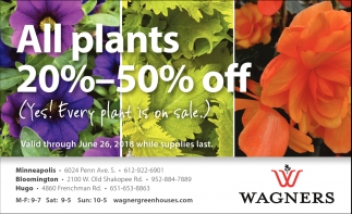All Plants 20% - 50% OFF