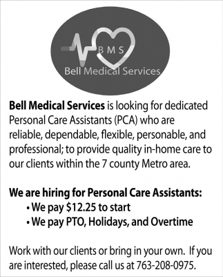 We are Hiring for Personal Care Assistants