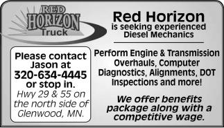 Red Horizo is Seeking Experienced Diesel Mechanics