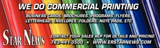 We do Commercial Printing