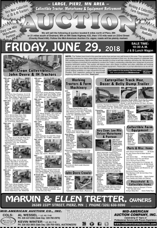 Auction Tuesday, June 29, 2018