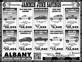 Jammin June Savings