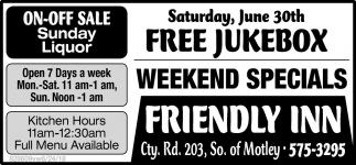 On-Off Sale Sunday Liquor