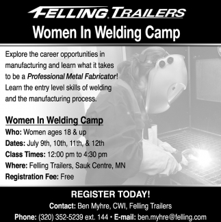 Women in Welding Camp