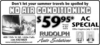 Don't Let Your Summer Travels be Spolled by No Air Conditioning
