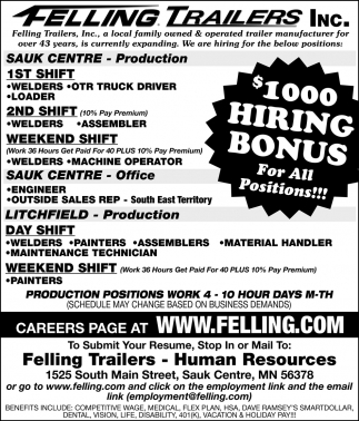 $1000 Hiring Bonus for All Positions