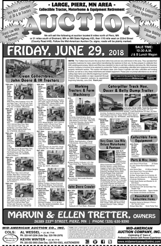 Auction Friday, June 29, 2018