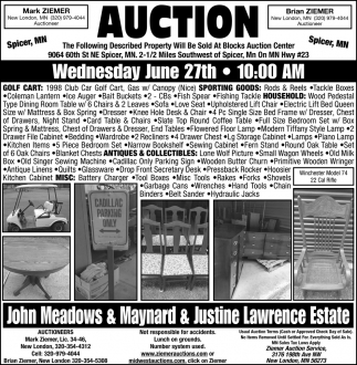 Auction Wednesday, June 27th