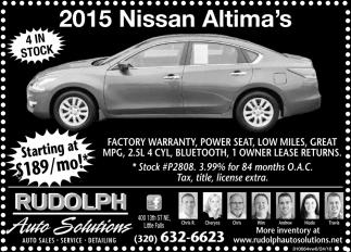 2015 Nissan Altima's