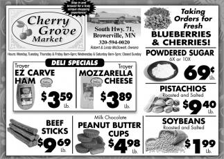Taking Orders for Fresh Blueberries & Cherries!