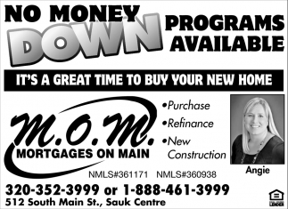 No Money Down Programs Available