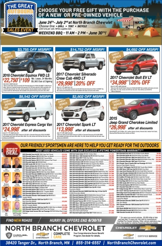 Choose Your Free Gift with the Purchase of a New or Pre-Owned Vehicle!