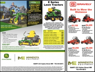E Series Lawn Mowers