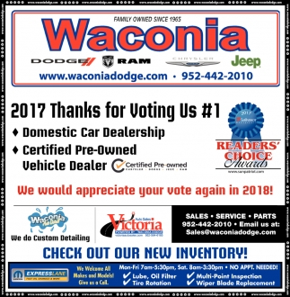 2017 Thanks for Voting us #1