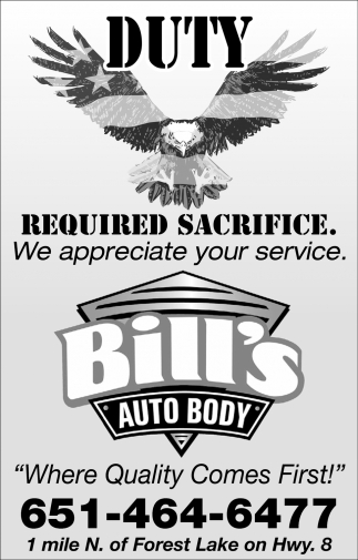 We Appreciate Your Service