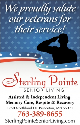 We Proudly Salute Our Veterans for their Service!