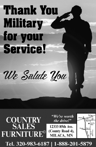 Thank You Military for Your Service!