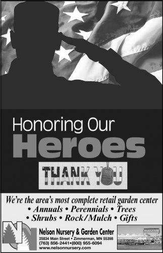 Honoring Our Heroes, Thank You!