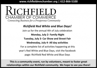 Richfield Red, White and Blue Days!