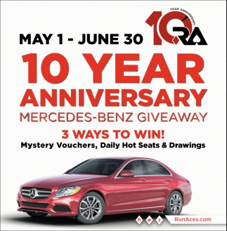 10 Year Anniversary Mercedes-Benz Giveaway