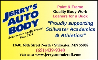 Proudly Supporting Stillwater Athletics & Academics