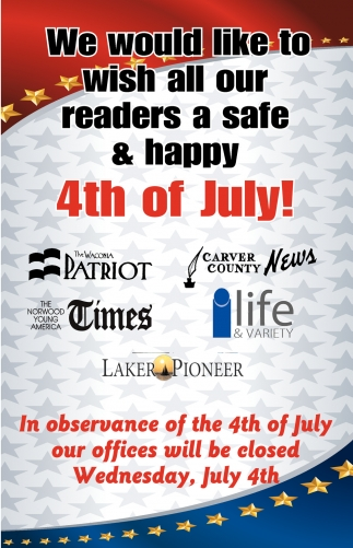 We Would Like to Wish All Our Readers a Safe & Happy 4th of July