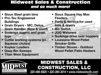 Midwest Sales & Construction and so Much More!
