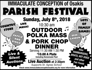 Immaculate Conception of Osakis Parish Festival
