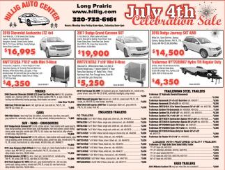 July 4th Celebration Sale