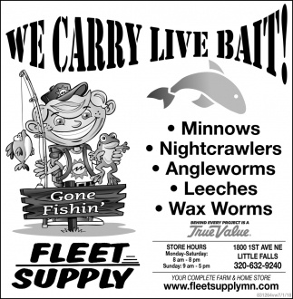 We Carry Live Bait!