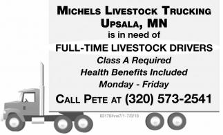Full-Time Livestock Drivers