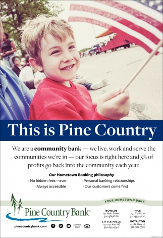We are a Community Bank