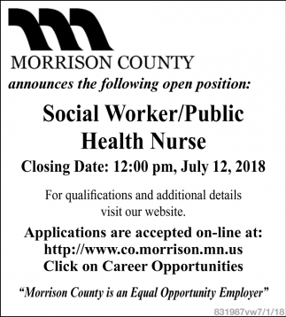 Social Worker/Public Health Nurse