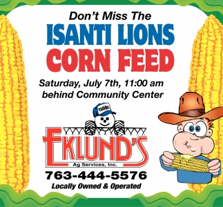 Don't Miss the Isanti Lions Corn Feed
